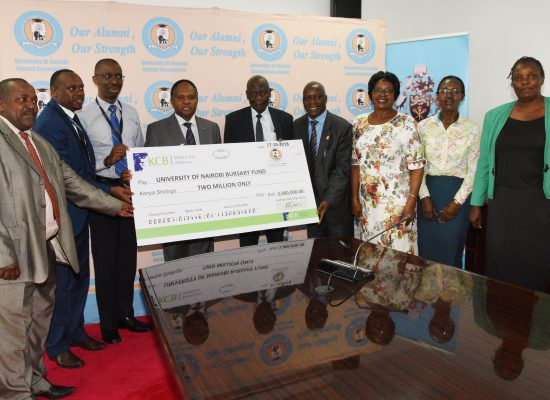 University of Nairobi Alumni Association Bursary Fund Cheque Presentation.