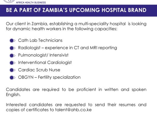 AFRICA HEALTH BUSINESS JOB OPPORTUNITIES
