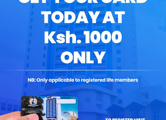 Get your Alumni Card today at only Ksh. 1,000