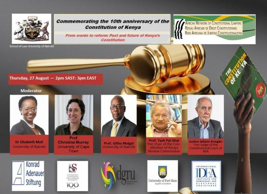 [WEBINAR] Commemorating 10th Anniversary of the Kenyan Constitution (27 August 2020)