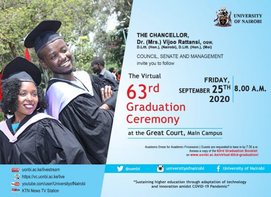 [PROGRAMME] VIRTUAL 63RD GRADUATION CEREMONY (FRIDAY, 25.9.2020)
