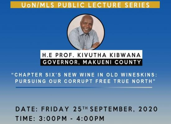 [Public Lecture] Chapter Six's New Wine in Old Wineskins: Pursuing our Corrupt-Free True North'