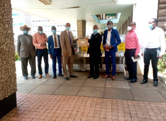 UoN Alumni delivers handwashing stations to six colleges