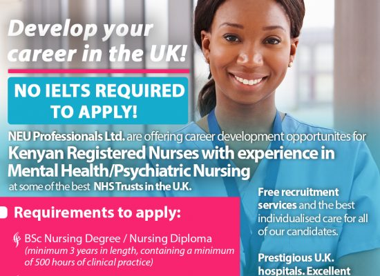 Develop your career in the UK (Opportunity for Registered Nurses)
